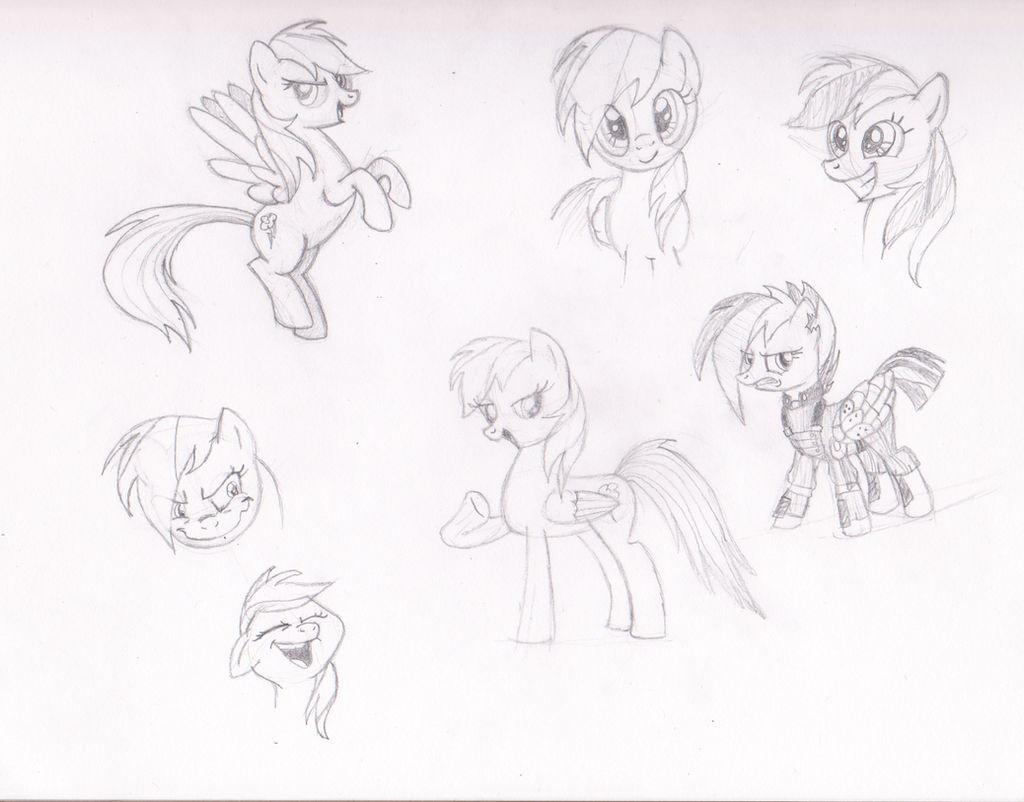 Rainbow Sketches By Serenityroseart On Deviantart