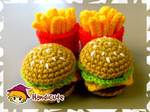 Burger Set Amigurumi