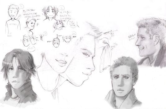 first SPN doodle by thenizu by SPNfans