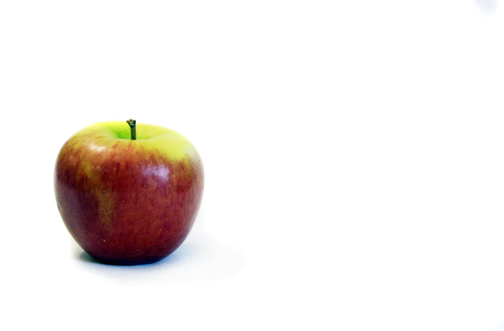 Apple-White Background by sapphiretiger-stock