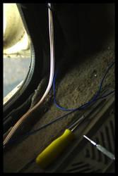 Speaker Wires in a Van