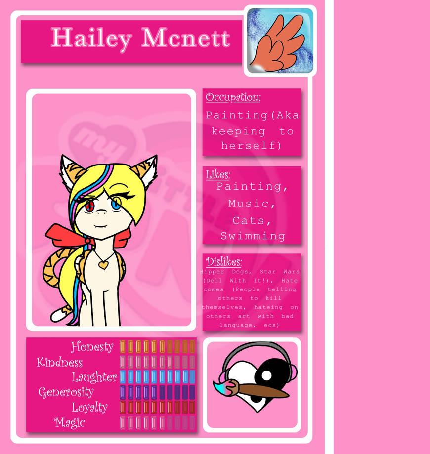 My MLP OC ref sheet by HaileyCatPanter13