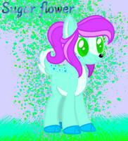 Dear pony OC Sugar flower by HaileyCatPanter13