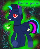 Pegasus OC Neon paint by HaileyCatPanter13