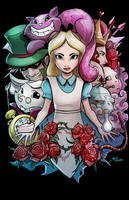 Alice in wonderland by glencanlas