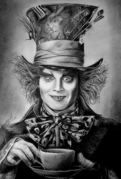 Johnny Depp Mad Hatter Drawing I ve been eating 50x Daily RDI