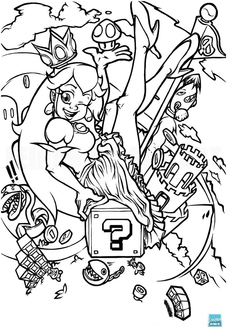 Princess Peach - Fan Art by 02Lei