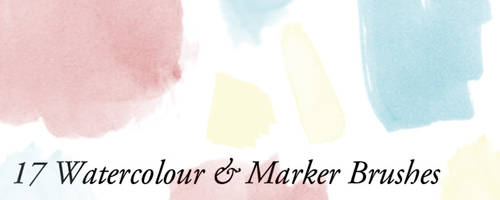 Watercolour Mark Brushes by Luke Clift