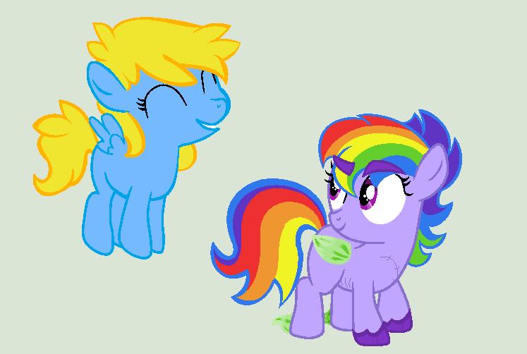 DumbbellDash + AriaDash Foals by Caroline263