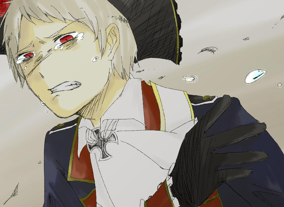 My Albino (Bullied! Prussia x Badass! Reader) by