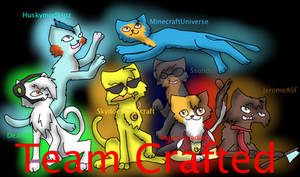 Team Crafted members as cats by wildface1010