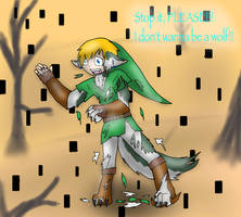 Twilight princess-Link's wolf transformation by wildface1010
