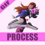 D.va Process by BenArtsStudio