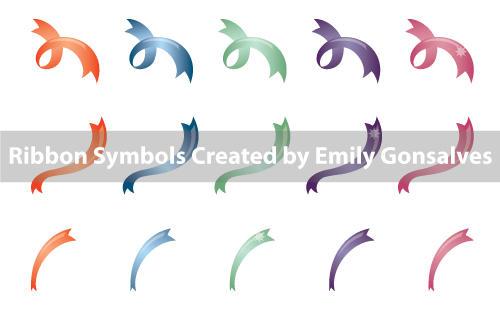 Free Vector Ribbon Symbols by Lanisatu