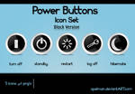 Power Buttons Icon Set -Black