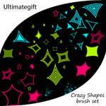Crazy shapes brush set
