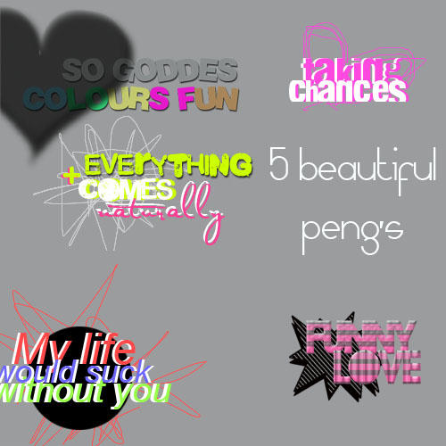 + 5 textos png's. by ColorsxRaimbow