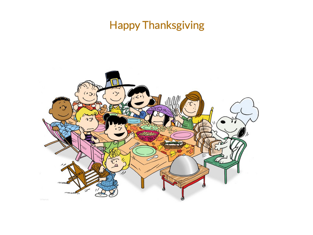Happy Thanksgiving From Peanuts Gang By Katiefan2002 On