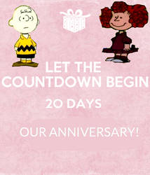 20 More Days Until Our Anniversary!