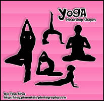 Yoga Photoshop Custom Shapes by darkmis29