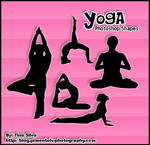 Yoga Photoshop Custom Shapes