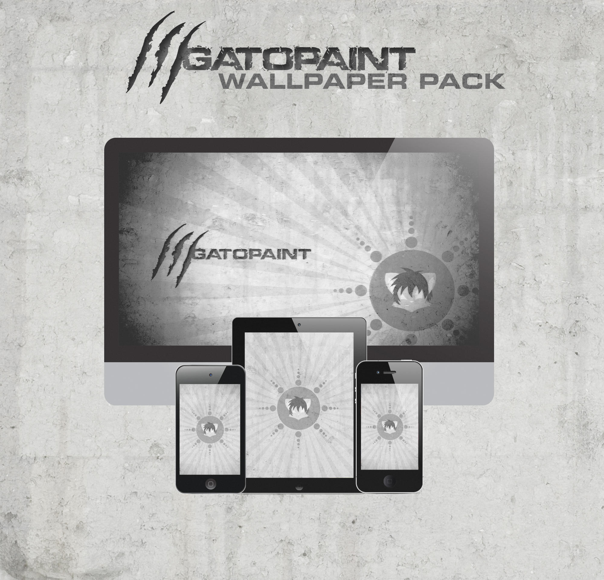 Gatopaint Retina-ready Wallpaper Pack by YangWatanabe