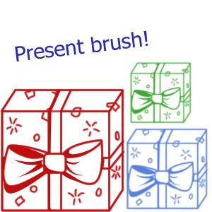 Present brush by LJZedstock