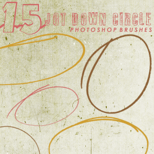 jot down circle brushes