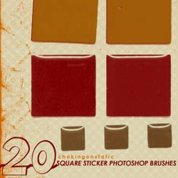 square sticker brushes