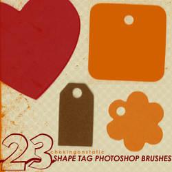 shape tag brushes