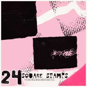square stamp brushes by chokingonstatic