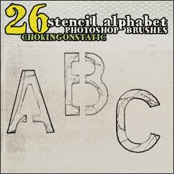 alphabet brushes