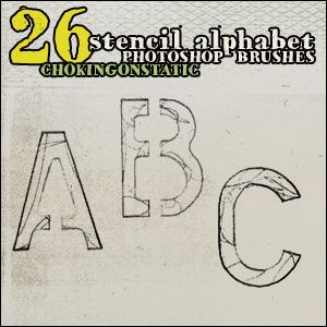 alphabet brushes by chokingonstatic