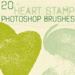 heart stamp brushes