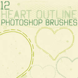heart outline brushes