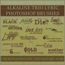 alkaline trio lyric brushes