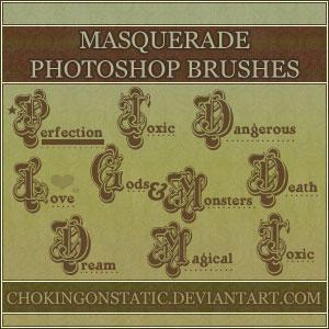 masquerade text brushes by chokingonstatic