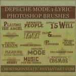 depeche mode lyric brushes 1