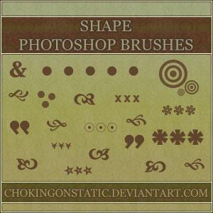 shape brushes 1 by chokingonstatic