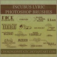incubus lyric brushes 1 by chokingonstatic