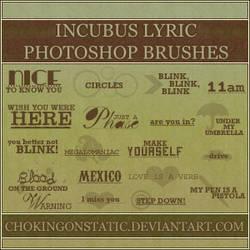 incubus lyric brushes 1