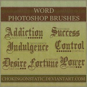 word brushes by chokingonstatic