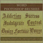 word brushes