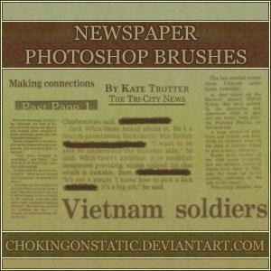 newspaper brushes by chokingonstatic