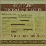newspaper brushes