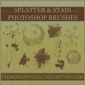 splatter-stain brushes