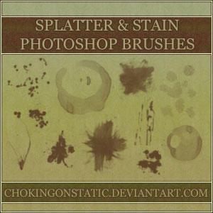 splatter-stain brushes by chokingonstatic