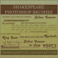 Shakespeare brushes by chokingonstatic