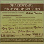 Shakespeare brushes