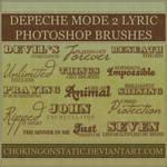 depeche mode lyric brushes 2